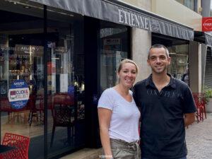 Elodie et Tony Madouas : les deux gérants du coffee-shop de St-Nazaire